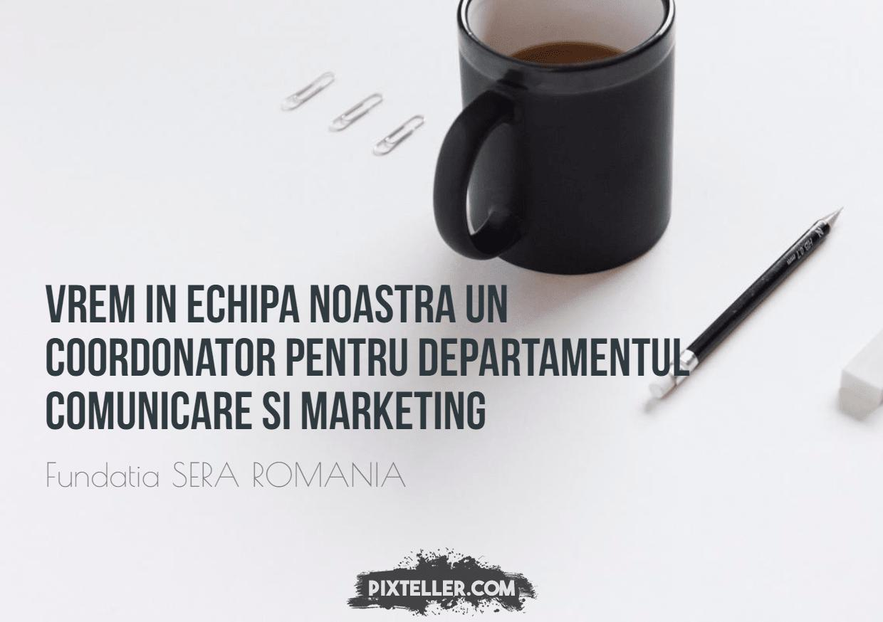 anunt angajare comunicare si marketing